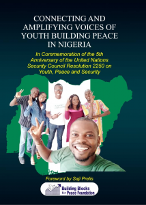 Book Cover: Connecting and Amplifying Voices of Youth Building Peace in Nigeria